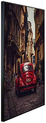 Ecowelle Infrarotheizung mit Bild | 500 Watt | 80x60x3cm | Infrarot Heizung| | Made in Germany | d 137 Auto in Einer kleinen Straße