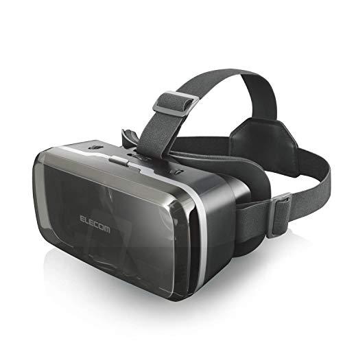 エレコム VRゴーグル VRグラス 目幅・ピント調節可能 メガネ対応 ブラック VRG-M01BK