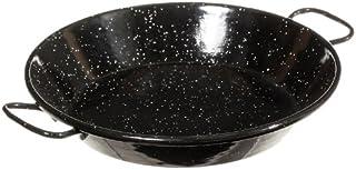 La Ideal acero esmaltado paellera, Negro, 20cm, 1 unidad