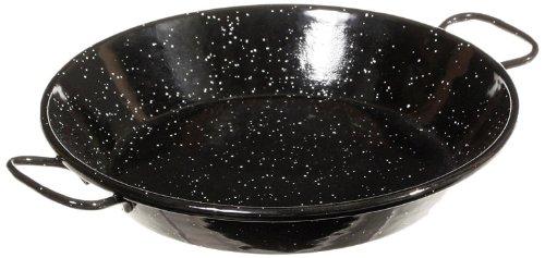 La ideal Paella Pfanne Stahl emailliert, schwarz, 20cm, 1Stück