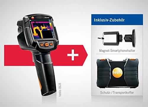 Wärmebildkamera testo 868 inklusive Koffer und Kleinschmidt GmbH Magnet-Smartphonehalter