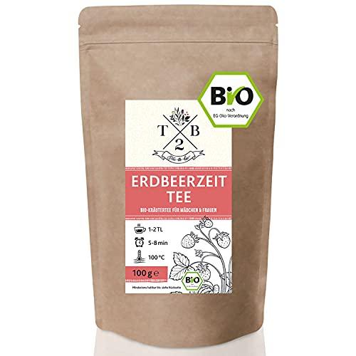 Frauentee Erdbeerzeit Kräutertee mit Frauenmantelkraut in Bio-Qualität während der Menstruation, 100g Frauentee ca. 40 Tassen