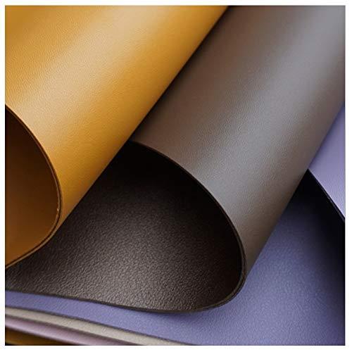 NXFGJ Polipiel Tela PU Tela de imitación Tejido de Cuero Sintético, Cuero Sintético, Bolso de Cuero de Doble Cara de PVC, para Coser Tapicería de 138 Cm de Ancho (Color : Purple)