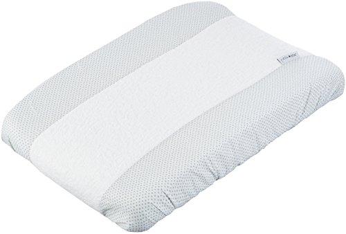 Petite Stars 36022620–Wickelauflage Badewanne, Design Zebra, 50x 70cm, weiß/grau