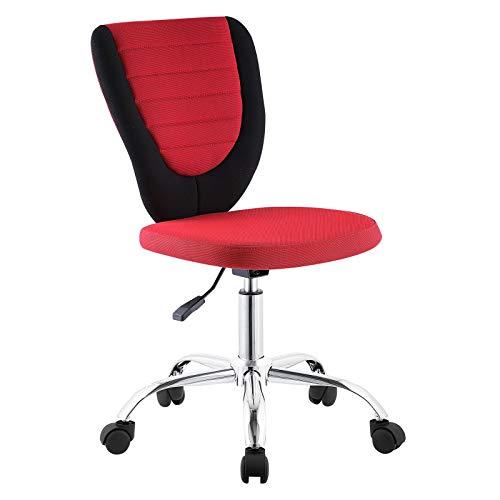 CARO-Möbel Kinderdrehstuhl Future Schreibtischstuhl Drehstuhl in schwarz/rot, höhenverstellbar