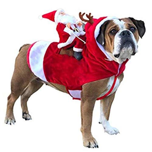 fpengfashion Disfraz de Papá Noel para mascotas de Navidad, para...