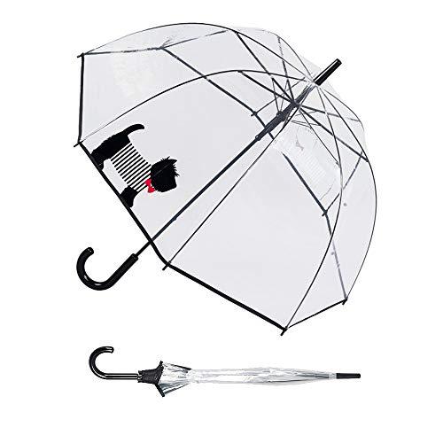 Susino Parapluie Cloche transparent automatique - Chien Mignon Regenschirm, 83 cm, 81 liters