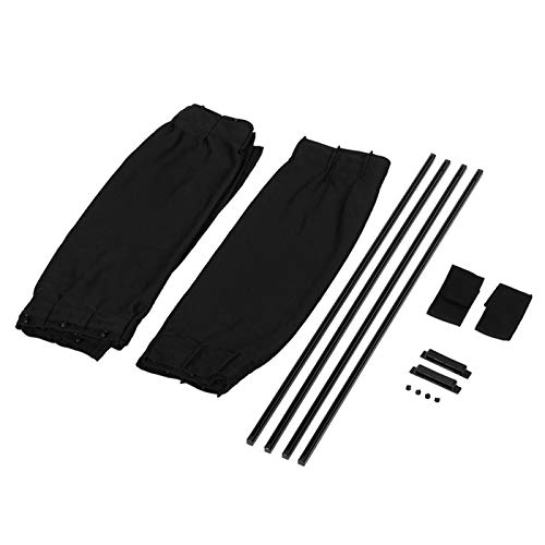 2 uds 20 x 15 pulgadas parasol de coche cortina de ventana negra para coche persianas de ventana lateral de coche para parabrisas de bebé accesorios de sombrilla(Negro)