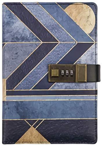 Cuaderno de piel sintética retro de Egipto con contraseña, cuenta de mano con bloqueo diario, libro cuenta, cuaderno de regalo para estudiantes (color : leyenda egipcia)