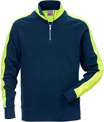 Fristads Kansas Workwear 111263 Sweatshirt mit Reißverschluss Gr. L, dunkles marineblau