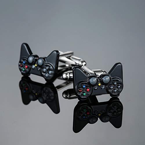 ZXWDL Manchetknopen Modemerk Elektronisch gaming-toetsenbord Manchetknopen Eenvoudig verhoogde Franse herenhemden Manchetknopen