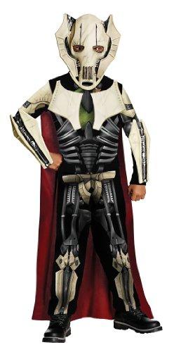 Original Lizenz Star Wars General Grievous Grievouskostüm Kostüm Clonewars Clone Wars Fasching Kinderkostüm für Kinder Gr. 134/140, 116/122, 98/104, Größe:M
