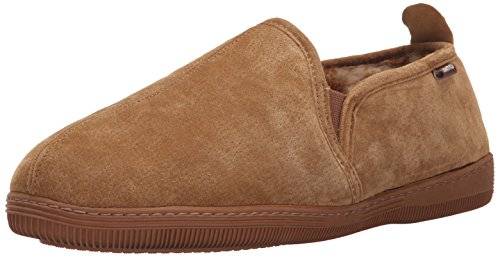 Lamo Men's Romeo Slip-on Shoe, Suede, Chestnut,  8 M US