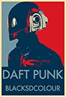 Daft Punk ダフト・パンク 約90cm×60cm シルク調生地のファブリック・アートポスター