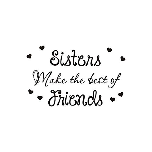 Wall Stickers,Home Decoration Stickers for Toilet Refrigerator Cabinet Glass Living Room Bedroom Window Decoration,Sisters Make The Best of Friends