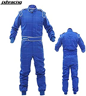 jxhracing S1001 SFI One Layer One Piece Auto Go Kart Racing Suit-Small