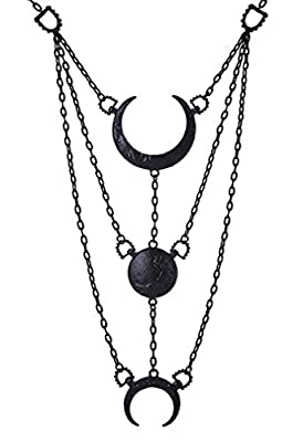 Moon Phases Long Crescent pendant