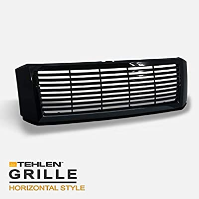 Stehlen 642167819882 Horizontal Front Hood Bumper Grille - Black For 2007-2014 Ford Expedition
