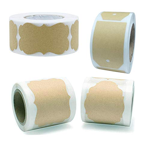 BLOUR 1 Rolle = 250PCS / Lot 3x5cm Leere Kraftpapieraufkleber Siegeletikett Verpackungszubehör
