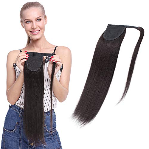 Ponytail Hair Piece Hair Extension 100% Real Remy Human Hair - Wrap Around...