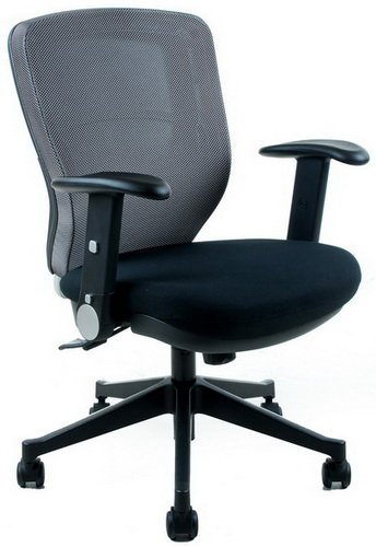 sedia ergonomica hjh hjh OFFICE 653613 Sedia da ufficio/Sedia girevole TRAFFIC 10 tessuto grigio/nero
