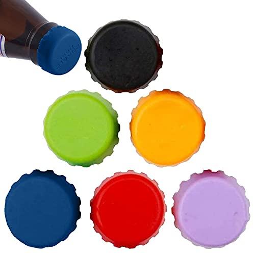 VEGCOO 18 tappi a corona in silicone per bottiglie di birra o vino fai da te, tappi ecologici riutilizzabili