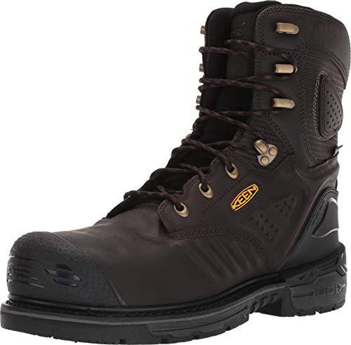 "KEEN Utility - Philadelphia 8"", Waterproof Composite Safety Toe Work Boot, Cascade Brown/Black, 8.5 M US"