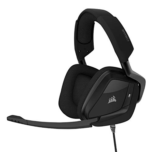 Corsair VOID Elite Surround Premium Gaming Headset with 7.1 Surround Sound - Discord Certified - Works with PC, Xbox Series X, Xbox Series S, PS5, PS4, Nintendo Switch - Carbon
