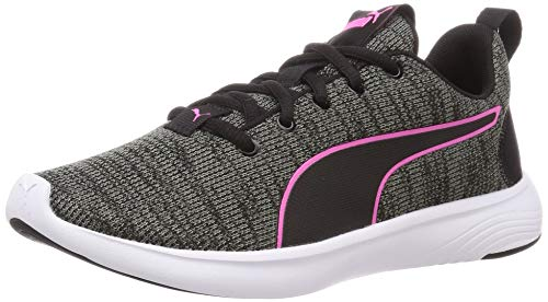 PUMA Damen SOFTRIDE VITAL Clean WNS Straßen-Laufschuh, Black-Ultra Gray-Luminous Pink, 42 EU