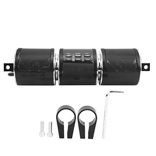 Motor Reproductor MP3, Altavoz estéreo Bluetooth estéreo para motocicleta, para motocicletas de conducción al aire libre resistentes al desgaste MP3(black, Pisa Leaning Tower Type)