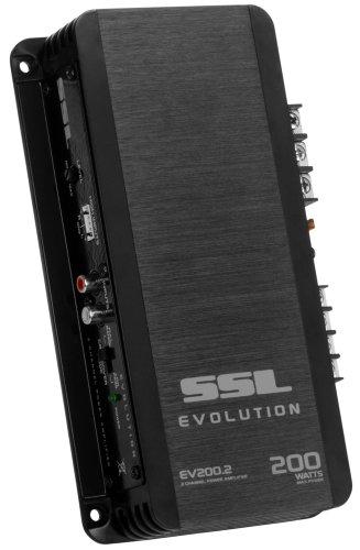 Sound Storm Laboratories EV200.2 Evolution 200 Watt, 2 Channel, 2 to 8 Ohm Stable Class A/B, Full Range, Car Amplifier, Black