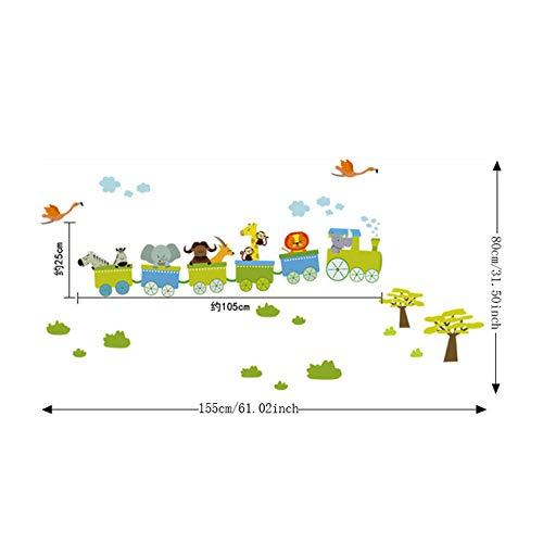 Adhesivo Tren Adhesivos de pared Habitación infantil Decoración para el hogar Tren Vinilo Habitación infantil Calcomanía Habitación infantil Decoración infantil