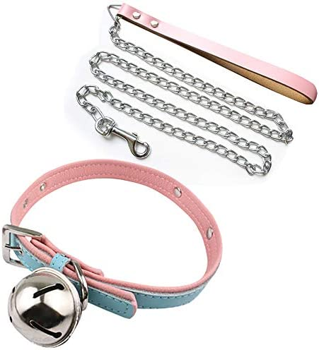 Jilneed Leather Choker Collar for Women Sexy PU Necklace Cute Cat Girl Cosplay Bell Chokers product image