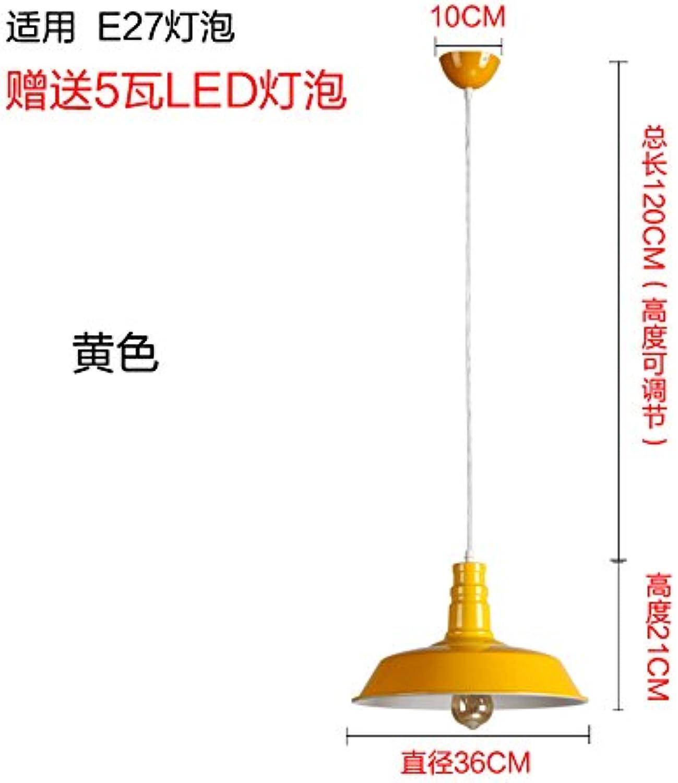 Luckyfree creativo moderna lámpara de techo Lámparas de techo moderno salón dormitorio de cama cocina (36cm + 7W Sorgente luminosa a LED gialla