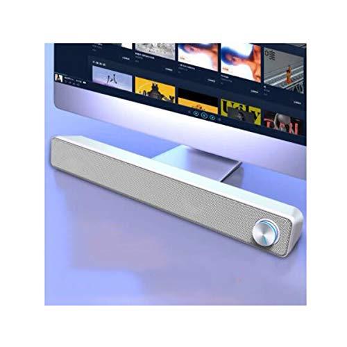 CHENTAOCS Audio, computer bluetooth luidspreker, desktopstrip, multimedia-luidspreker, notebook telefoon desktop kabel, USB praktisch en eenvoudig product wit
