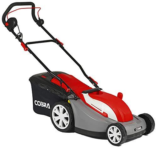 Cobra GTRM34 34cm (13in) Electric Lawnmower with Rear Roller - Powerful 1300w motor