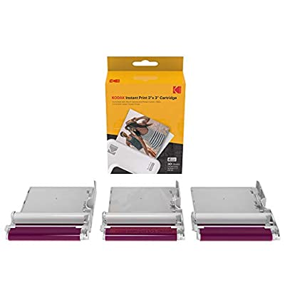 "Kodak Mini 3 Square and Mini Shot 3 Series 3""x3"" Cartridge All-in-One Paper and Color Ribbon Cartridge Refill - Compatible with Kodak Mini 3 and Mini Shot 3 Series by Prinics Co., Ltd."