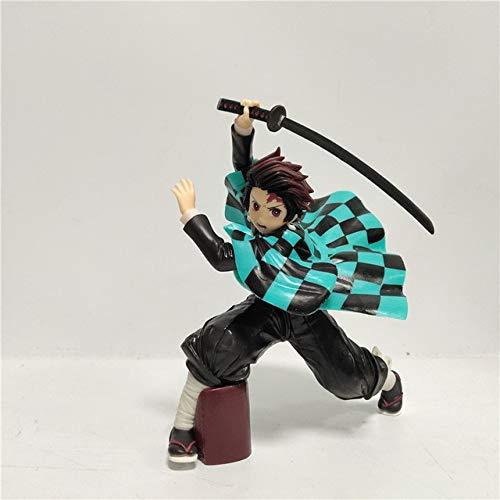 Modelo De Anime - Figura Demon Slayer Kimetsu Tanjirou Nezuko Inosuke Figurita Juguetes gris
