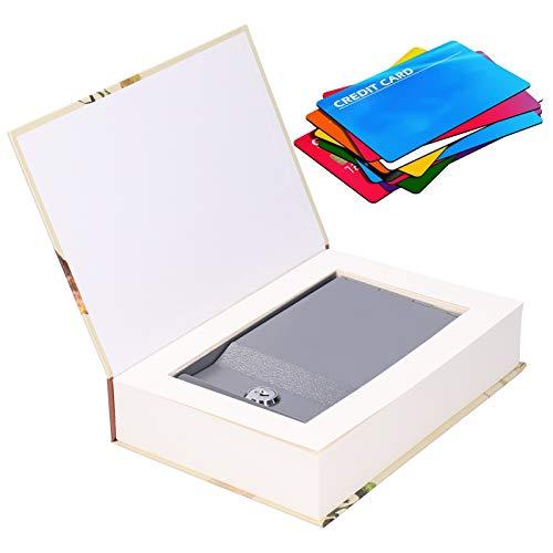 Caja de seguridad de bloqueo con llave, para tarjeta de banco de almacenamiento