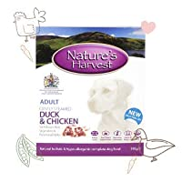 WET DOG FOOD FOR SMALL AND LARGE DOGS. The Natures Harvest Wet Dog Food Duck, Chicken and Brown Rice combination is Wheat-Gluten Free, perfect for improving the overall gut health and mood of your dogs. An easy-to-chew-and-digest dog food that contai...