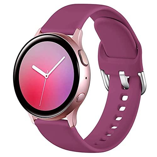 LLKHFA Correa de silicona para reloj Samsung Galaxy Watch 42 mm Active2 40/44 mm suave para reloj deportivo Samsung S2 Classic (color de la correa: color 20, ancho de la correa: para Amazfit Bip)