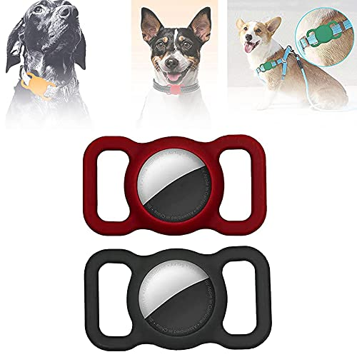 Adjustable Anti-Lost Locator Airtags, Pet Silicone Protective Case for Apple Airtag GPS Finder Dog Cat Collar Loop (D)