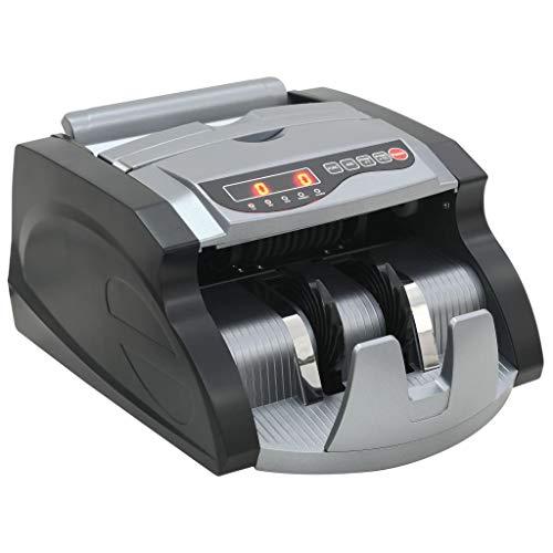 vidaXL Máquina de Contar Dinero Billetes Negro y Gris Equipo Tiendas Monedero