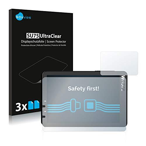 savvies Protector Pantalla Compatible con SJCAM SJ8 Pro/Plus (6 Unidades) Pelicula Ultra Transparente