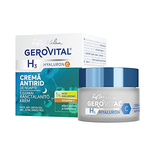 Gerovital H3 Hyaluron C, Crema Antirughe Notte Hyaluron C, per tipo di pelle: Secca Mista Normale, 50 ml