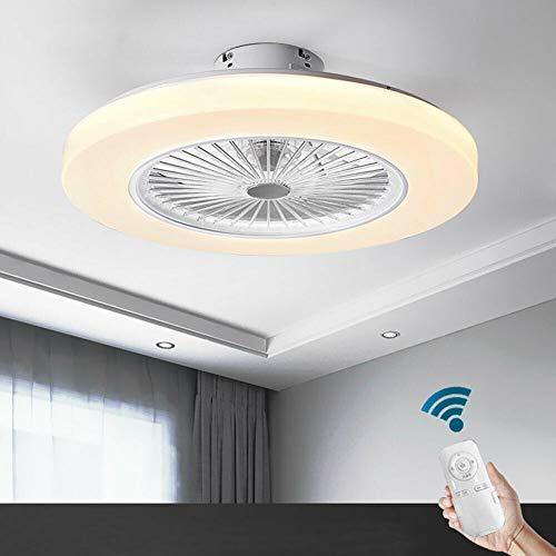 TFCFL Ventilador de techo con iluminación LED, 36 W, lámpara de araña moderna, creativa, regulable con mando a distancia, 3 velocidades de viento