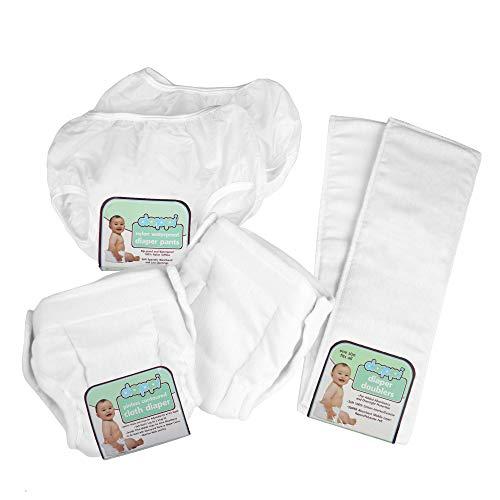Dappi Reusable Waterproof Nylon Diaper Pants Bundle, Medium