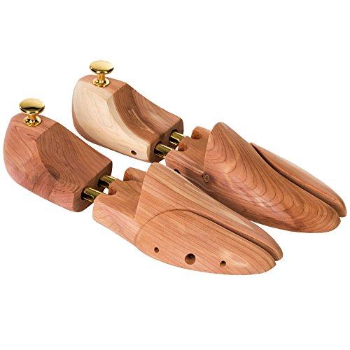 TecTake Hochwertige 1 Paar Schuhspanner Zedernholz Schudehner Schuhweiter Damen Herren Schuhe - diverse Größen - (44-45 | Nr. 402253)