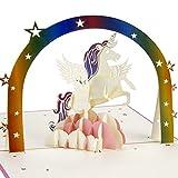 Tarjeta de cumpleaños pop-up, tarjeta de felicitación de unicornio, tarjeta de aniversario, tarjeta de graduación, tarjeta de boda, tarjeta de día del niño, tarjeta de agradecimiento.