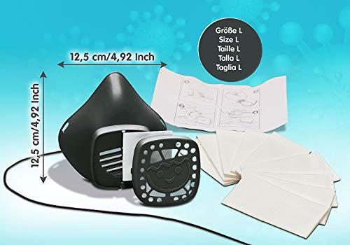Playmobil 70740 - Mscara reutilizable para nariz y boca (tamao grande), color negro